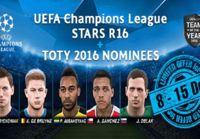 Atualização semanal #12 – Estrelas das Oitavas da Champions League + Nomeados TOTY 2016