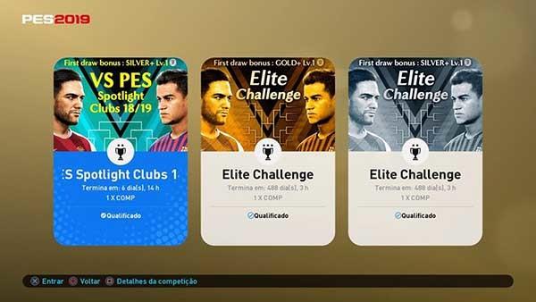 Desafio contra CPU - PES 2019 - 30-8