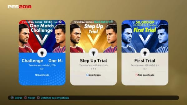 Desafio online - PES 2019 - 30-8