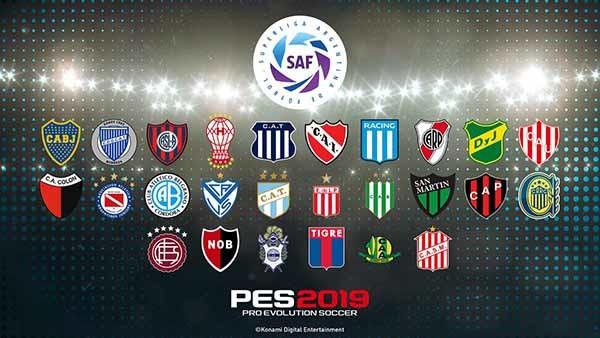 Liga Argentina licenciada - PES 2019