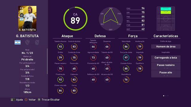 PES 2020 - Legends South American - 16-12 - Batistuta - 1