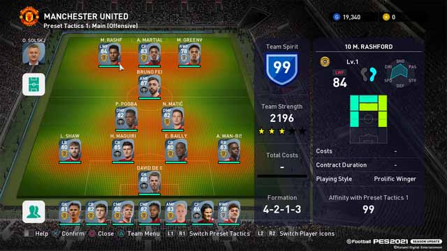 pes 2020-club edition manchester united